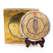 Pilar dragão 2012 Yunnan Chá Puer Dayi Shu Pu Erh 201 Lote 357g Menghai Puer Maduro Prémio Chá Chinês pu er Caixa de Presente Da Embalagem(China (Mainland))