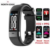 North Edge 2019 Smart Bracelet ECG+PPG Blood Pressure Heart Rate Monitor Pedometer Sports Band Multi-Sport Mode IP67 Waterproof