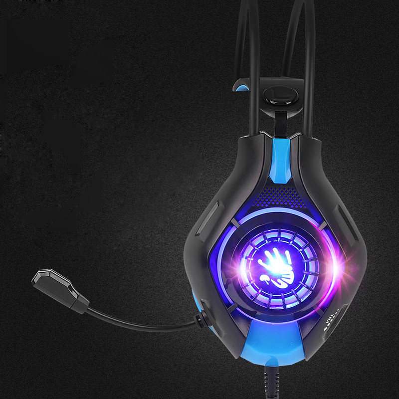Deep Bass Game Headset Earphone with Microphone LED Light Wired WOW Gaming Headphones for Computer PC Sport Earbuds Stereo  original fashion computer game headphone wired gaming headset super bass stereo earphone with led light microphone for lol ps4
