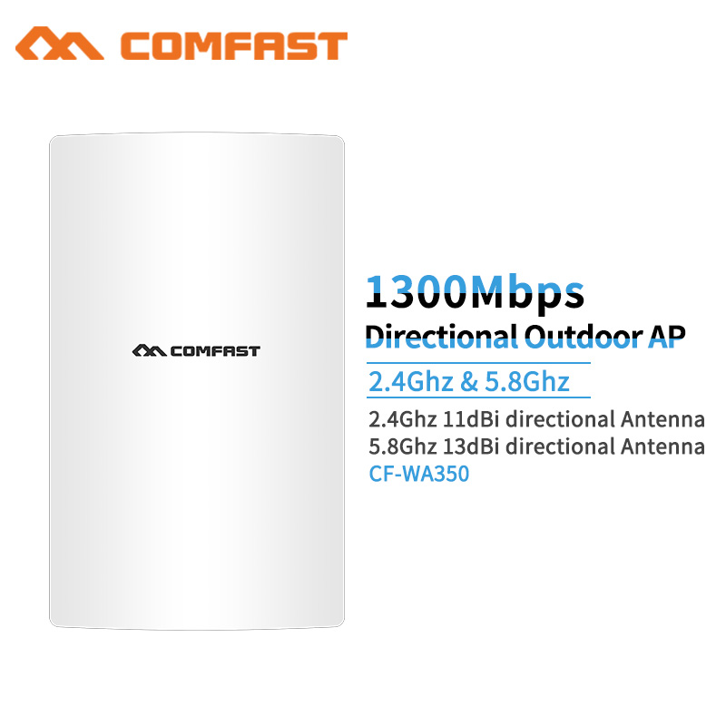 цена Outdoor Powerful 1300Mbps Gigabit Weatherproof Repeater /Wifi Extender/Access Point/Router/WISP Antenna Directional Wi fi AP