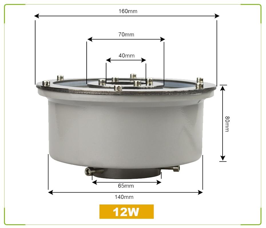 6 IP68 Levou Fonte de Luz1218 W