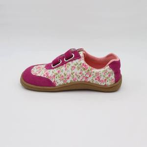 Image 3 - Kids 2020 Toddler Baby Genuine Leather + Fabric Shoe Girls Flower Sneaker Kid Child Causal Trainer Sequin Flat Barefoot