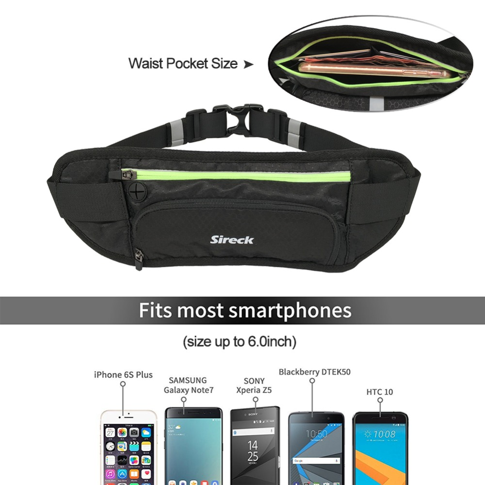 Sireck Running Bags Waterproof Running Waist Bag Sport Water Bottle Holder Fitness Phone Pouch Jogging Belt Gym Bag Accessories 10