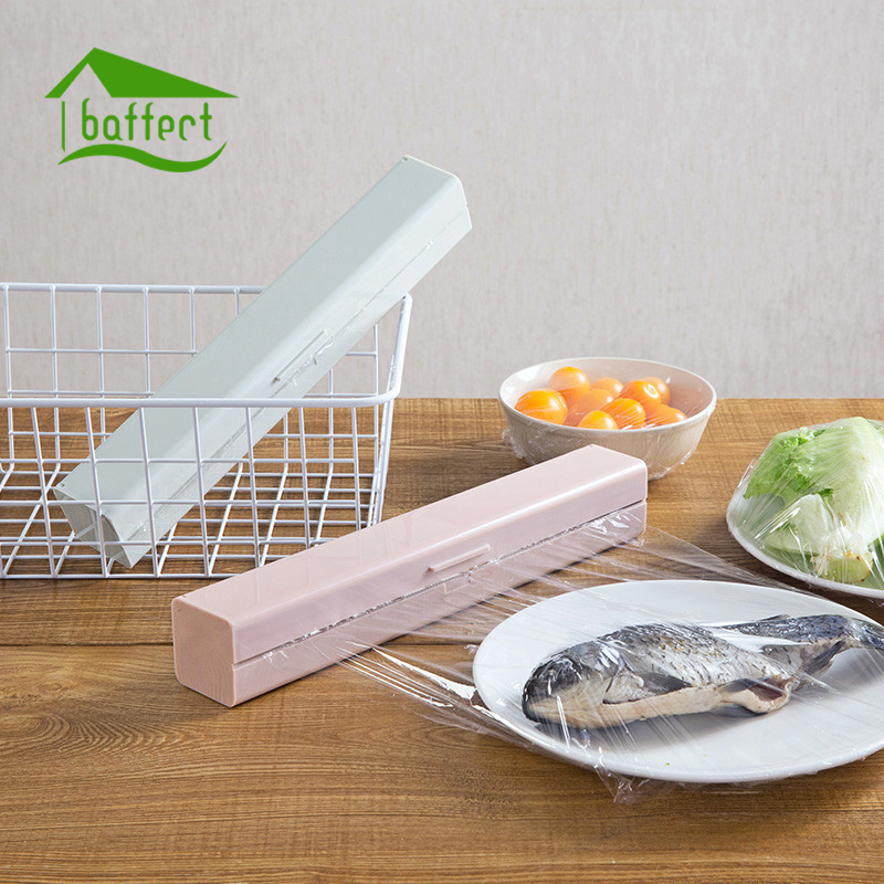 US $9.77 26% OFF Colorful Simple Plastic Kitchen Foil And Cling Film Wrap  Dispenser Cutter Storage Holder Plastic Box Kitchen Tool Accessories-in ...