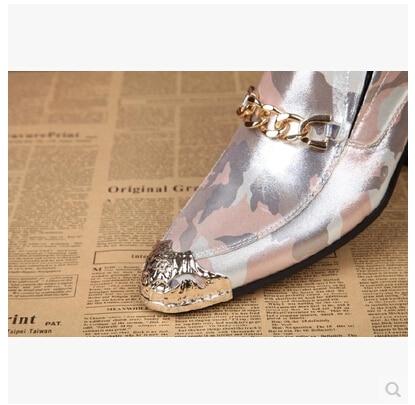Plates 2017 pu Hommes Bout Cuir Véritable Métal Mariage En Quility Nouvelle Ciel Noir Oxford Mode De Chaussures rose Pointu Bande Haute wUUEq