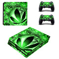 Green Weed Vinyl Skins Desgin For Playstation 4 Pro Console and PS4 Pro Controller Vinyl For Sony Playstation 4 Pro Skin