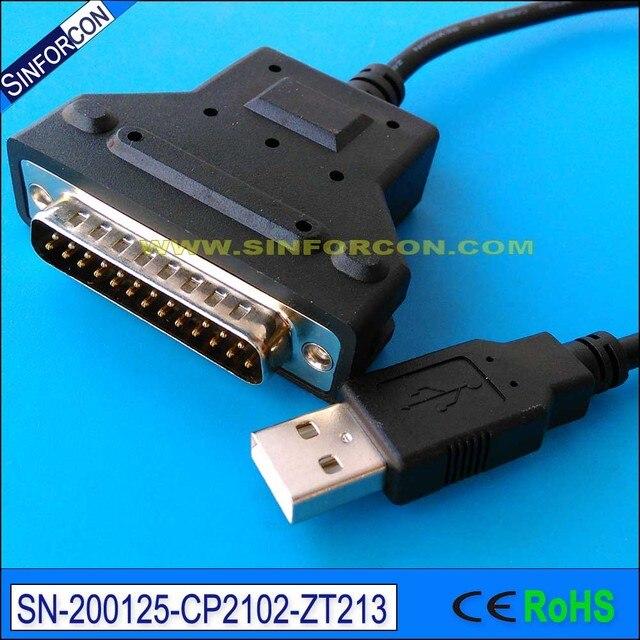 silabs cp2102 usb rs232 db25 adapter usb serial db25 adapter for barcoder printer scanner printers