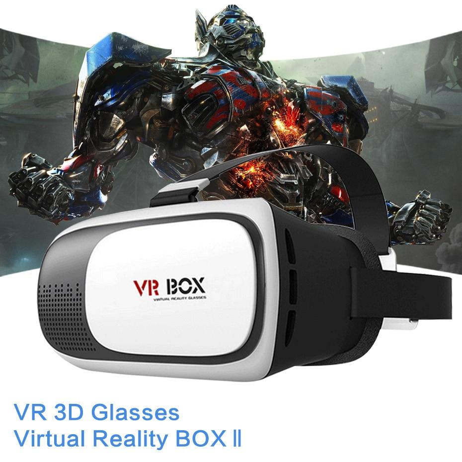 Vr Очки VR коробка 2.0 II Google 3D Очки виртуальной реальности очки картона гарнитура шлем для iPhone 7 6 6S 5 мобильный телефон