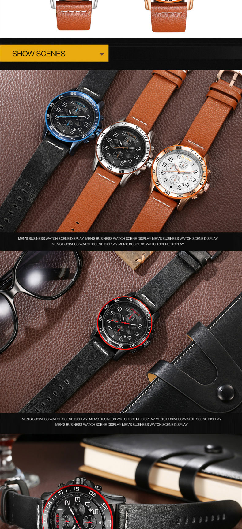17 Men Watches Luxury Top Brand OCHSTIN Sports Chronograph Fashion Male Dress Leather Belt Clock Waterproof Quartz Wrist Watch 3