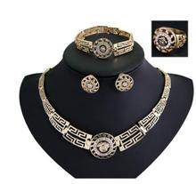 Retro atmosphere in Europe and America Chain earrings bracelet rings Pendant necklace jewelry sets American alloy цены онлайн