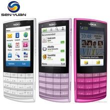 X3-02 Orijinal Unlocked nokia X3-02 Cep Telefonu 5 Renkler Wifi Bluetooth 5MP Kamera Ucuz nokia telefon