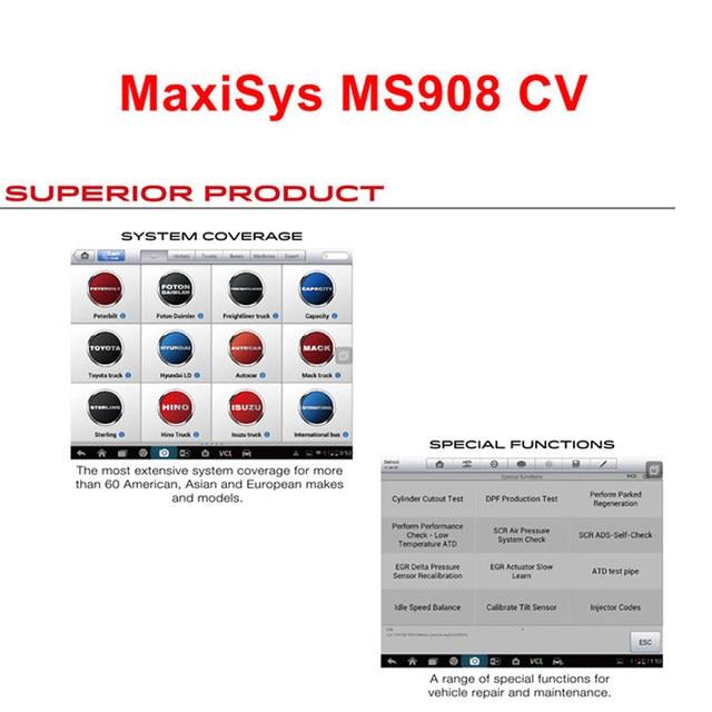 online shop autel maxisys 908 cv diagnostic tool for heavy duty
