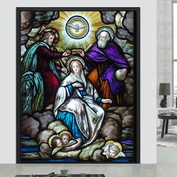Humor Nach Größe Fenster Film Tür Aufkleber Vater Herr Jehovah Gott Jesus Christus Jungfrau Maria Bilder Wand Aufkleber Glas Film So Effektiv Wie Eine Fee