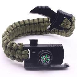 Cool Multi Функция браслет для выживания Для мужчин браслет для выживания Ножи Обёрточная бумага Парашютная веревка многофункциональный