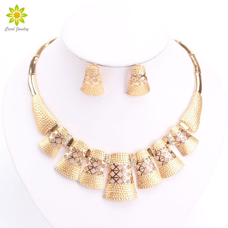 Aliexpress Com New Ler Dubai Design Fashion Costume Crystal Necklace Earring Fine Gold Silver Plated Jewelry Sets Gorgeous Shining From