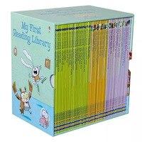 50 книг/комплект Usborne мой первое чтение Библиотека Книги с картинками на английском Развивающие Игрушки для маленьких детей изучение слов по