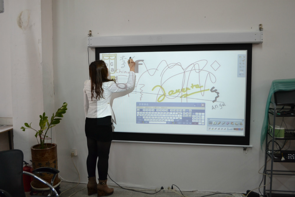 Free Shipping Electric Interactive Projection Screen