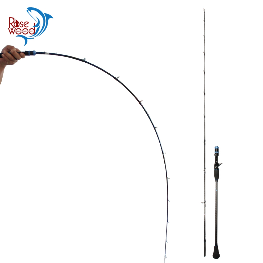 RoseWood 1.95m Casting Slow Jigging Rod Lure Weight(Max) 200G PE #1-3 Normal/Fuji Guides Light Slow Pitch Jigging Rod Stick