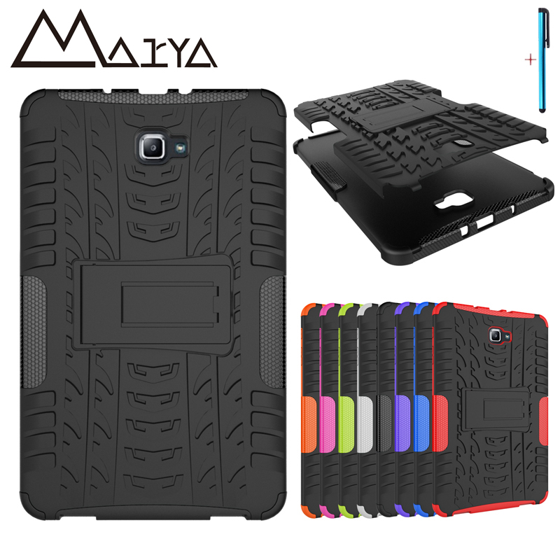 Case For Samsung Galaxy Tab 10.1 2016 A T580 Tablet Cover Shockproof Heavy Duty Case Protector Skin Hybrid Rubber T580 Cover lovemei shockproof gorilla glass metal case for galaxy note4 n9100