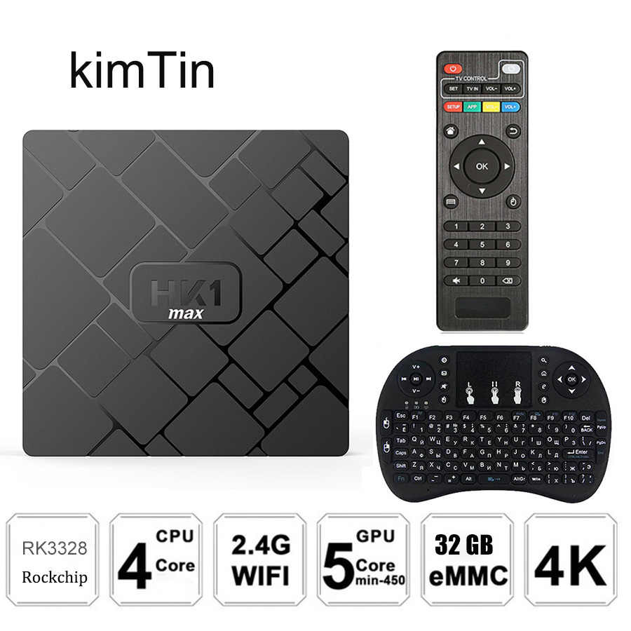 2018 HK1 Max Tivi Box Android 8.1 RK3328 Quad Core 4GB 32GB 4K VP9 3D 2.4G wifi 1080P H.265 4K Smart Android Box PK H96 X96 Max Truyền Hình