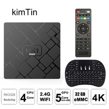 купить 2018 HK1 Max TV Box Android 8.1 RK3328 Quad Core 4GB 32GB 4K VP9 3D 2.4G WiFi 1080P H.265 4K Smart Android box PK H96 X96 MAX TV по цене 1042.08 рублей
