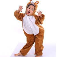 New Boys Girls Halloween Costumes Short Plush Animal Costume Kids Stage Performance Costume Cartoon Jumpsuit Cosplay