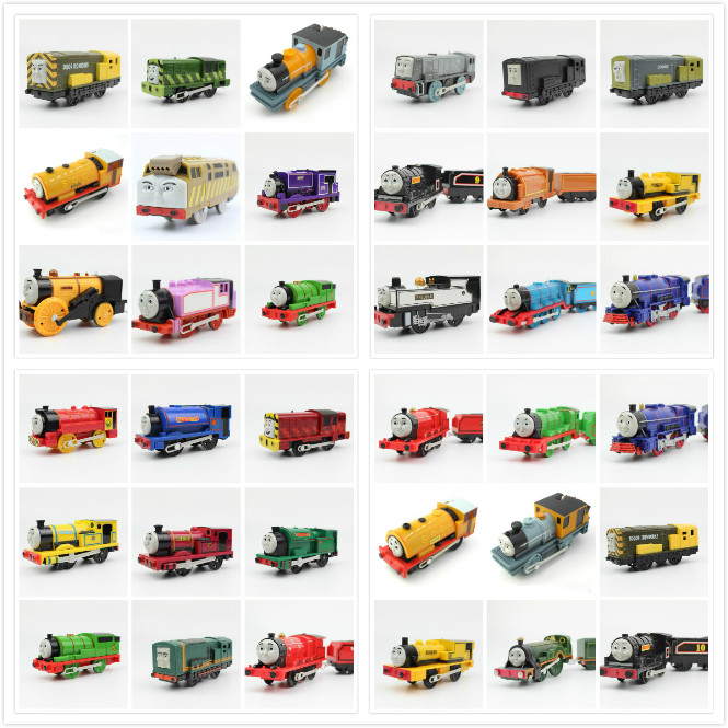 Electric Trains Motorized Train Set Compatible With Brio Train Track Trackmaster Railway Engine Locomotive Toys For Children