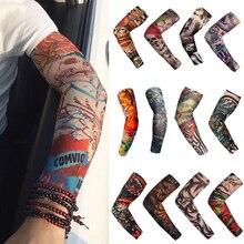Men Tattoo Sleeve Women New Trendy high Elastic Fake Temporary Designs Summer sunscreen Body Arm Warmers UV