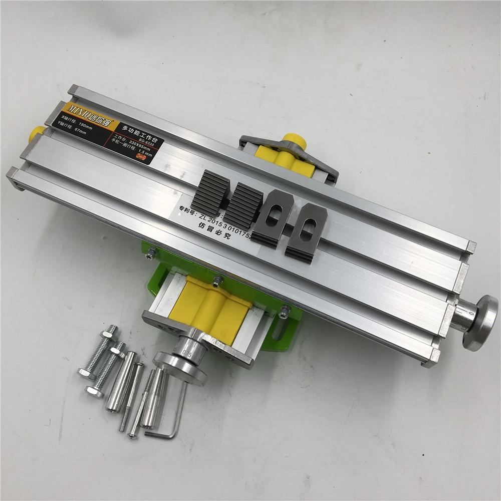 330*95mm Multifunction Worktable Adjustable X Y Axis Cross Slide Table Milling Drilling Work Table Machine Upgrade Version