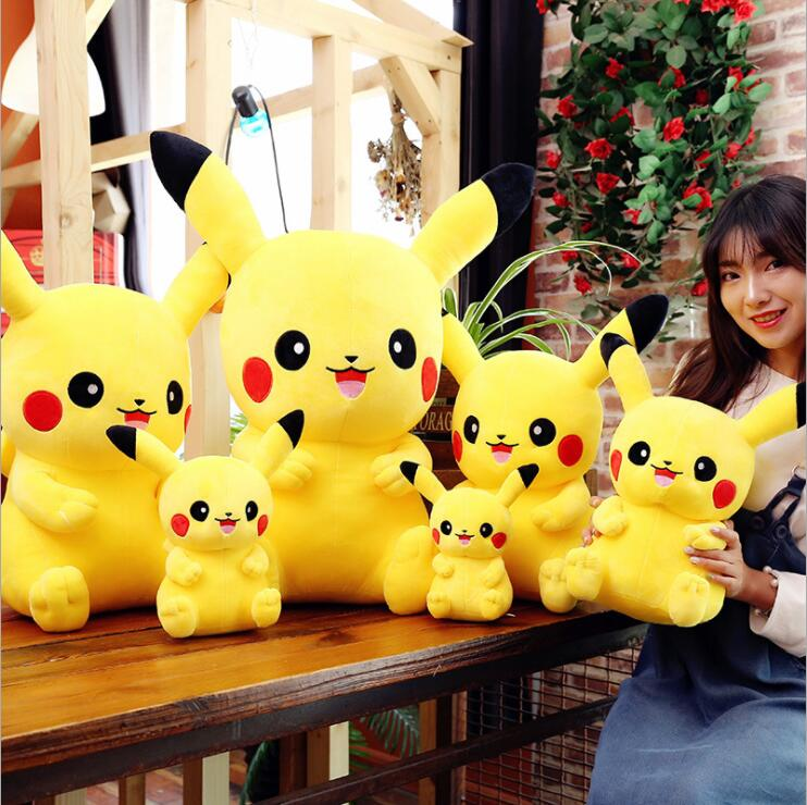 Height Large Stuffed Animals & Plush Doll Toy Pikachu Kids Sleeping Back Pillow Cute Baby Accompany Doll Xmas Gift Stuffed Toys(China)