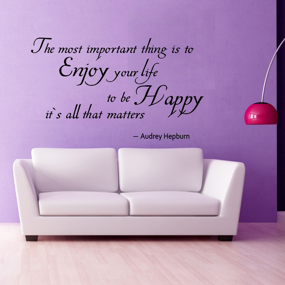 Quotes About Enjoying Life Audrey Hepburn Quote The Most Important Thing Is To Enjoy Your