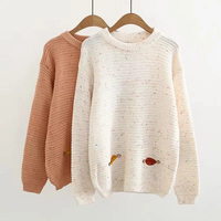 Winter New Women Sweaters And Pullovers Long Sleeve Owl Embroidery Causal Sweet Women Sweater Female Tops FZ16