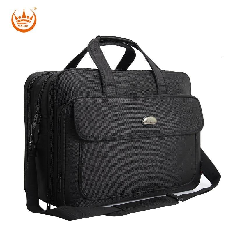 17 Inches Large Men's Briefcase Business Laptop Handbags Extensible Waterproof Briefcases Man Computer Shoulder Bag
