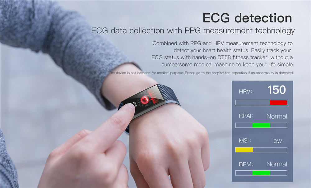 Smart Wristbands Large Screen Smart Band ECG Heart Rate Blood Pressure Monitor (4)