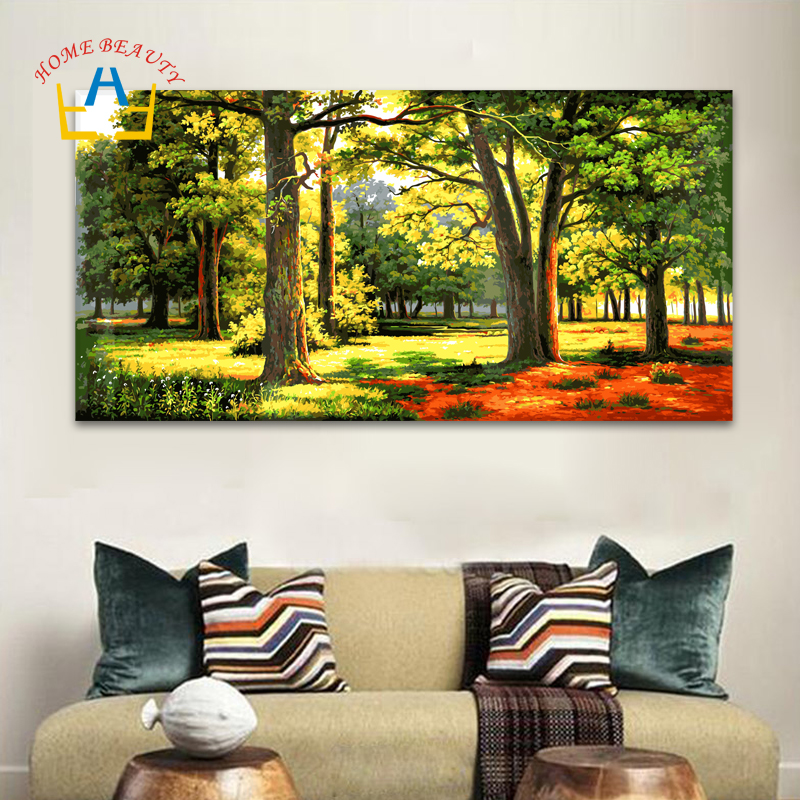 HOME BEAUTY 50 100 Painting Calligraphy Diy Oil Pictures By Numbers Canvas Painting Paint By Number