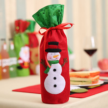 Christmas Decorations Santa Claus Wine Bottle Bags