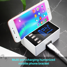 smart USB Charger wall Adapter Station HUB Led Display Mobile Phone Wall Charger For iPhone Samsung with Charger Stand Holder каталог samsung smart hub