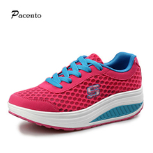 2016 PACENTO New Women Fashion Height Increasing Platform Wedges Hot Sales Shoes Womens Lose Weight Fitness Health Zapatos Mujer