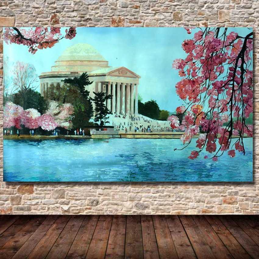 POP El Yapımı Modern güzel çiçekler manzara Yağlıboya Tuval Sanat Resimleri Odası Dekor duvar resimleri Çerçeve