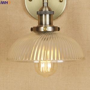 Image 5 - アンティーク真鍮の壁照明器具ガラス産業の横にスイングアームヴィンテージ壁灯燭台ランプ lamparas デ · パレー