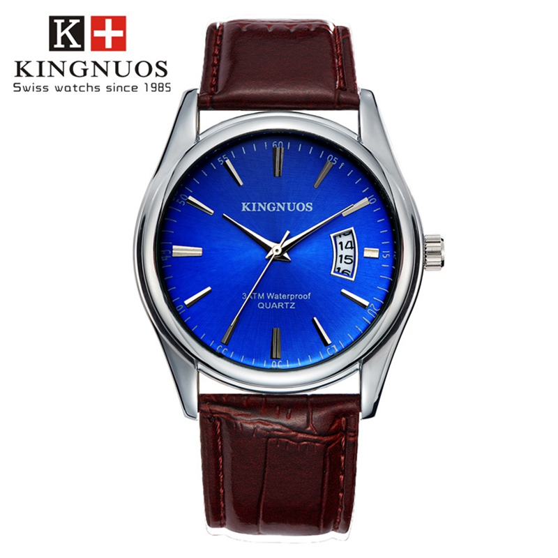 Fashion men Quartz watches KINGNUOS Business full steel watch luxury brand sport waterproof stopwatch Stylish Casual clock reloj