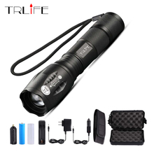 Promotions Ultrafire E17 2000 Lumens 5-Mode CREE XM-L T6 LED Flashlight Zoomable Focus Torch by 1*18650 or 3*AAA Free shipping цена