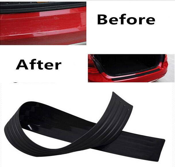 90cm Car Styling Universal Trunk Boot Door Sill Guard Car Body Rear Bumper Protector Trim Cover Sticker Rubber Strip protective pvc car bumper guard protector sticker white 2 pcs