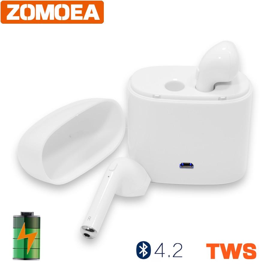 ZOMOEA Business Wireless Bluetooth Headset stereo headphones earphone earpiece Handsfree earbuds Headphone For smartphone wireless headphones earbuds built in microphone stereo headphone headset handsfree noise canceling handsfree bluetooth 4 1 bt815