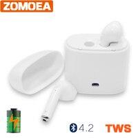 ZOMOEA Business Bluetooth Headset Stereo Noise Cancelling Bluetooth Earpiece Handsfree Wireless Earpiece For Smartphone