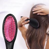 Straight Hair Brush Ceramics Comb Type Electrothermal Brush Safe PSE Certified KG66