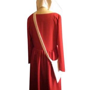 Image 4 - Костюм горничной для косплея, длинное платье, накидка, Хэллоуин, карнавал, женская шапка с красной накидкой, полный Вечерние, вечерний костюм