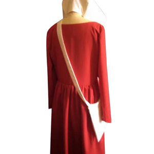 Image 4 - The Handmaids Tale Cosplay Offred Costume Long Dresses Cloak Halloween Carnival Women Red Cape Hat Bag Full Set Party Gown Suit