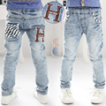 Spring/Autumn Soft Classical Boys Jeans Kids Pants Denim H Letters Baby Children Trousers Clothing 2017 T1/2118DCO