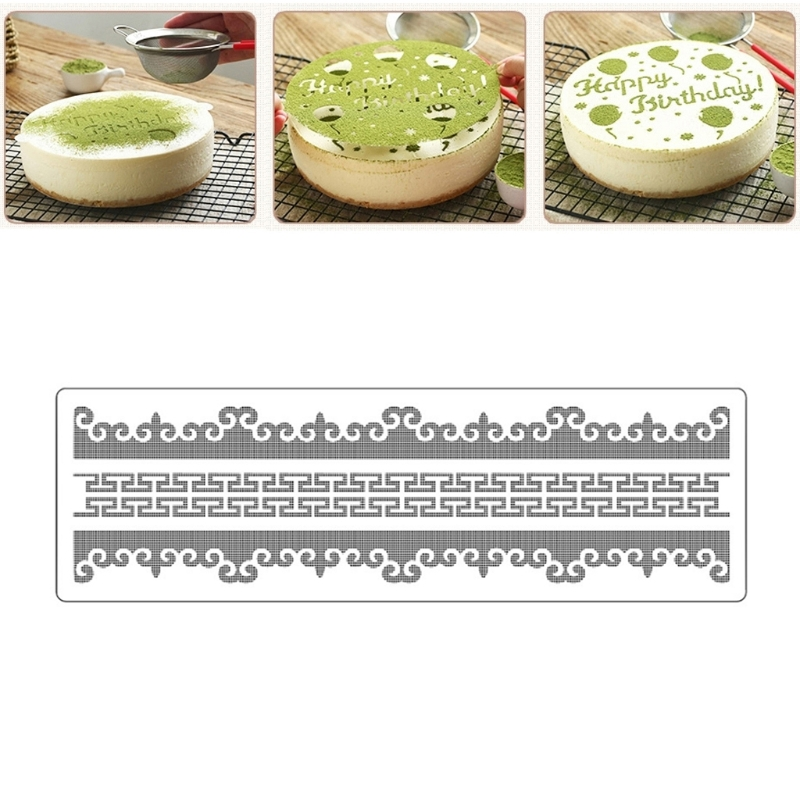 Retro Lace Flower Spray Cake Molds Plastic Fondant Cutter Cake Decorating Molds Biscuit Cutter Mar